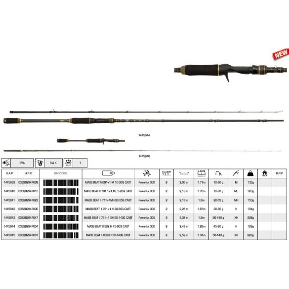 Abu Garcia mass beat ii 822 h 45-90g cast